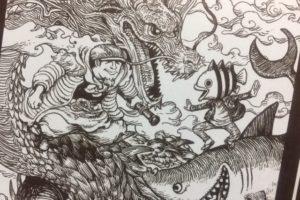 「尾田栄一郎×寺田克也」対談を掲載!『ONEPIECEイラスト集 COLORWALK8 WOLF』