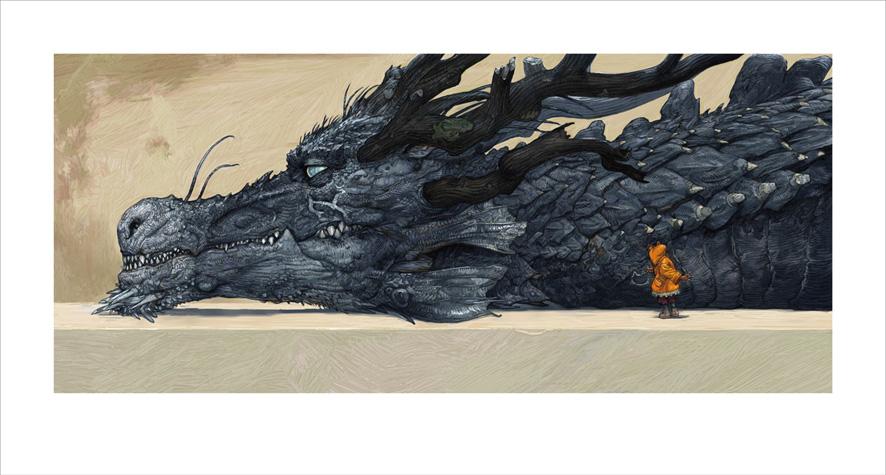 猫とドラゴン展に寺田克也さんが出品した絵