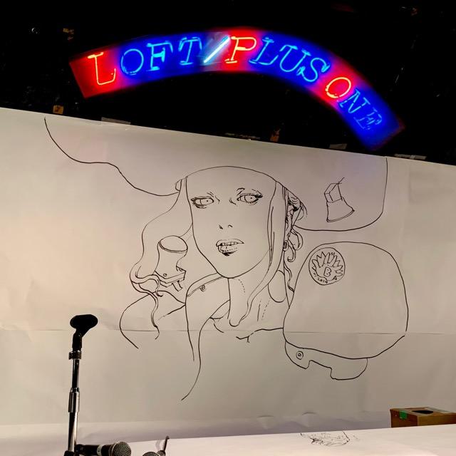 寺田克也原寸発売記念トークショーのライブドローイング