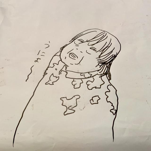 寺田克也さんが描いた祖父江慎さんのイラスト